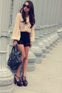 Black-giant-city-balenciaga-bag-black-lace-unknown-brand-shorts