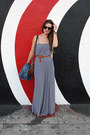 Navy-maxi-rachel-pally-dress-dark-brown-jw-hulme-bag-red-shoe-mint-sandals