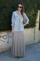 tan maxi Rachel Pally skirt - camel Frye boots