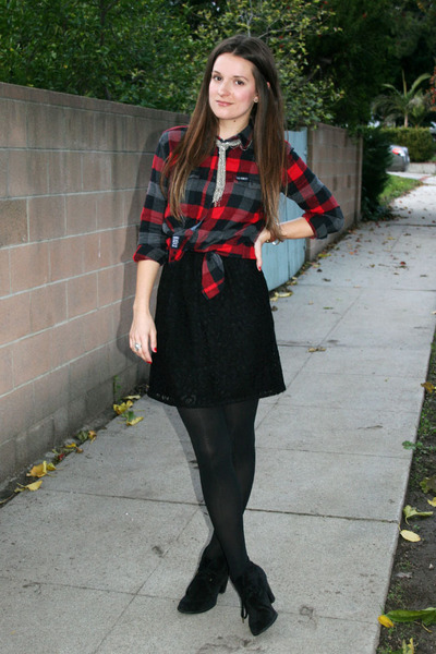 black lace madewell dress - black Indigo by clarks boots