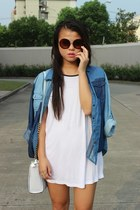 Aldo bag - cotton on dress - Aldo sunglasses - Forever 21 ring