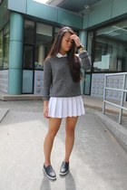 American Apparel sweater - American Apparel skirt - American Apparel blouse