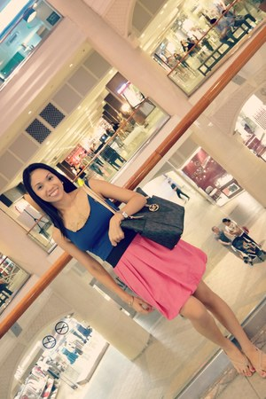 Zara skirt - Michael Kors purse - Madden Girl flats - H&M blouse
