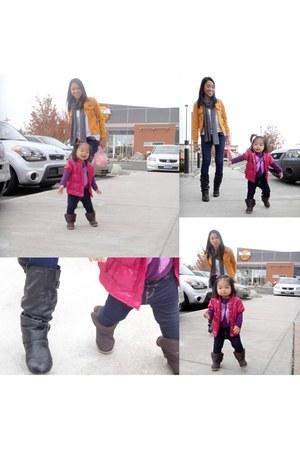 Guess boots - Koala Bear jacket - Victorias Secret scarf - Gap pants