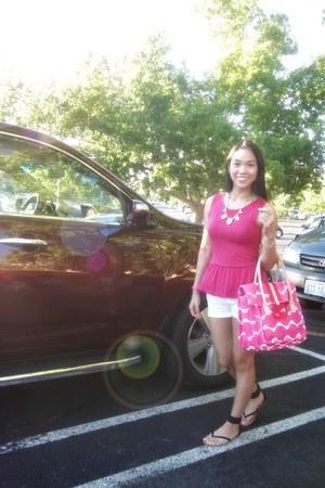 Juicy Couture bag - material girl flats - Zara top