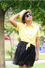 Yellow-top-black-f-stop-fashion-stop-skirt-f-stop-fashion-stop-hat-gold-