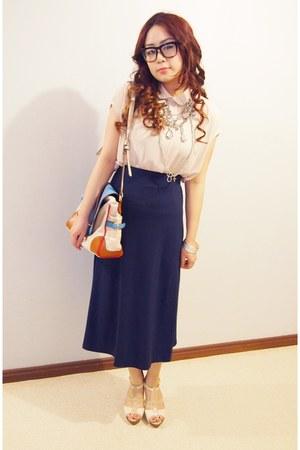 gmarket skirt - gmarket bag - gmarket blouse - Forever New heels