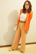 carrot orange gmarket blazer - gmarket bag - light orange Temt pants
