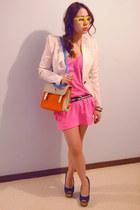 H&M blazer - Seduce dress - gmarket bag - asos heels - gmarket glasses