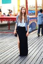 blue H&M blazer - black Primark skirt