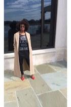 tan duster coat coat