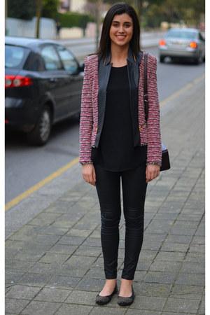 red Zara jacket - Primark shirt - Bimba & Lola bag - BLANCO flats