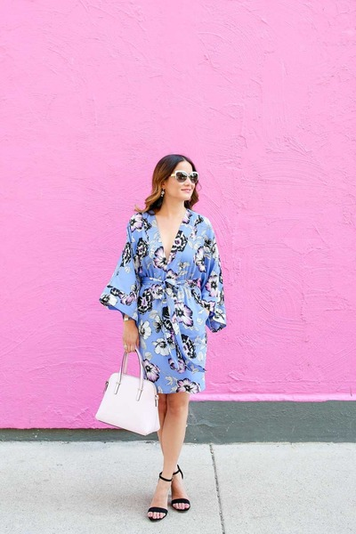 black cat eye kate spade sunglasses - violet kimono Yumi Kim dress