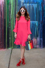 Red-tassels-loeffler-randall-shoes-hot-pink-ruffled-kate-spade-dress
