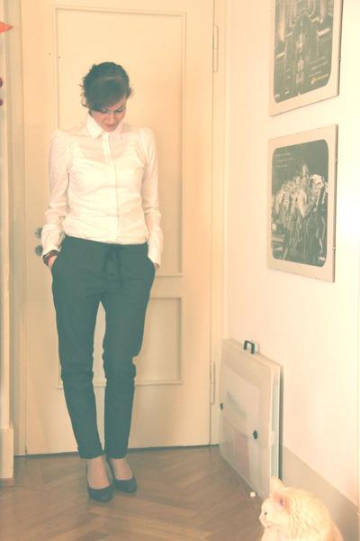 gray My Pants pants - white Review blouse