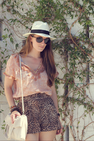 modcloth shorts - JCrew hat - JCrew shirt - kate spade bag