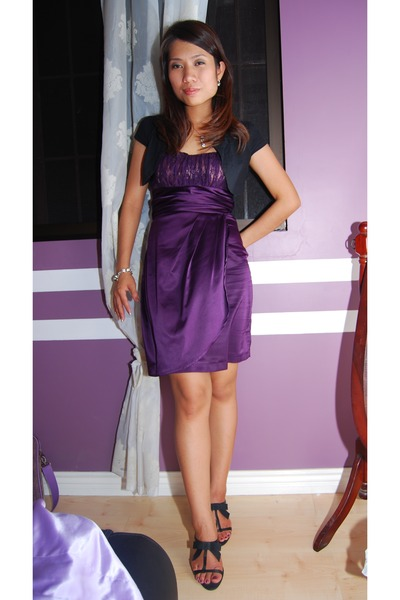 Purple Vis a Vis Dresses Black