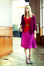 Magenta-silk-marc-by-marc-jacobs-dress-magenta-thrifted-cardigan-red-thrifte