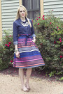 Navy-denim-the-limited-blouse-bubble-gum-striped-old-navy-skirt