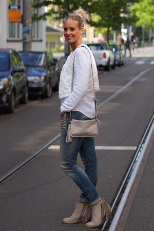 Sacha boots - G-Star jeans - H&M vest