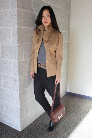 nico nico blazer - madison marcus blouse - Zara pants - Hermes bag - Modern Vint