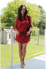 Red-print-silk-winter-kate-dress-black-pandora-givenchy-bag