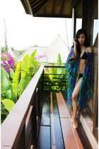 kimono Hermes jacket - bamboo bikini Victorias Secret swimwear - arty YSL ring