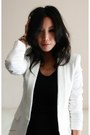 White-tuxedo-jacket-zara-blazer-navy-twisted-ruched-alexander-wang-skirt