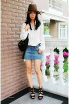 white tunic Zara dress - black pandora Givenchy bag