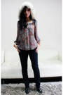 Navy-mama-j-j-brand-jeans-off-white-fox-fur-vintage-hat