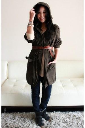 forest green parka Dolce & Gabbana coat
