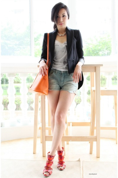Orange Bolide Hermes Bags, Black Cutaway Zara Jackets | \u0026quot;CRAVING ...