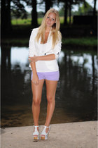 Zara blazer - H&M shorts - Jeffrey Campbell heels