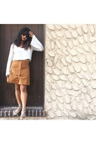 light orange faux suede Charlotte Russe skirt
