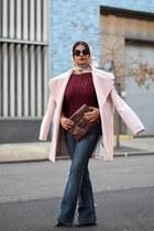 light pink silk scarf