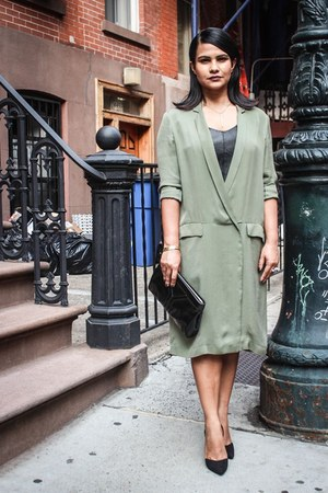 dark khaki trench dress Zara dress