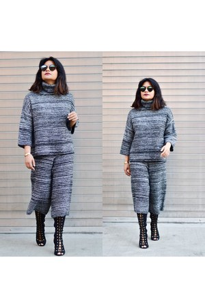 gray knit Missguided pants