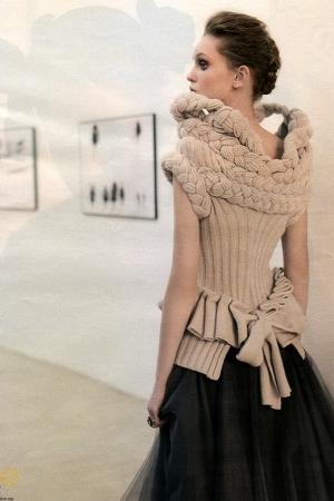 Gaetano Navarra sweater - Antonio Marras skirt - Kaos dress - Fendi sweater - Fe