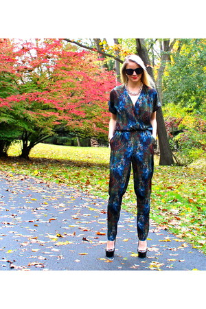 jumpsuit RBL jumper - patent leather Enzo Angiolini heels