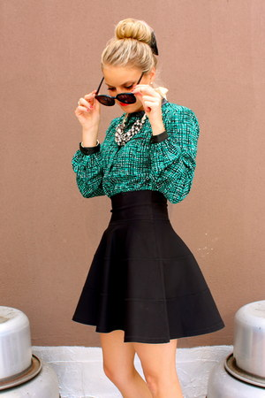 fit and flare robert rodriguez skirt - Karen Walker sunglasses
