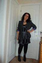 gray next blazer - Oasis dress