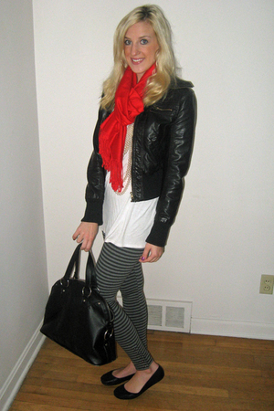 scarf - Forever 21 jacket - H&M shirt - american eagle outfitters leggings - Tar