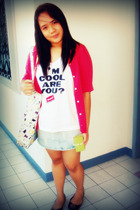 Ralph Lauren shirt - Hanes t-shirt - Harajuku Lovers purse - abercrombie and fit