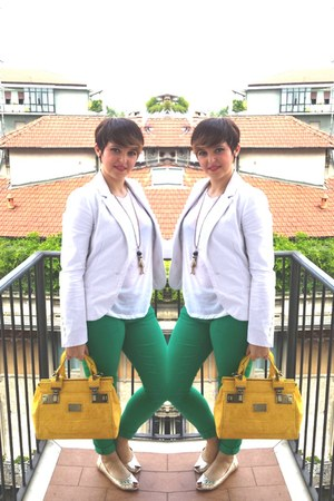beige gold gold Primark shoes - green grass green Primark jeans