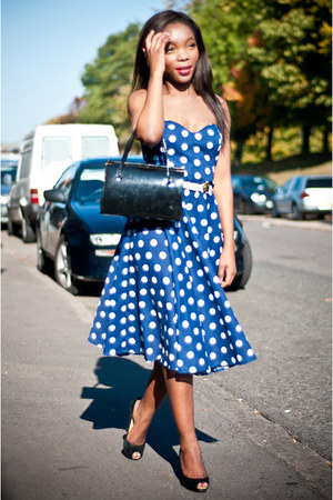 navy polka dots Styleiconscloset dress