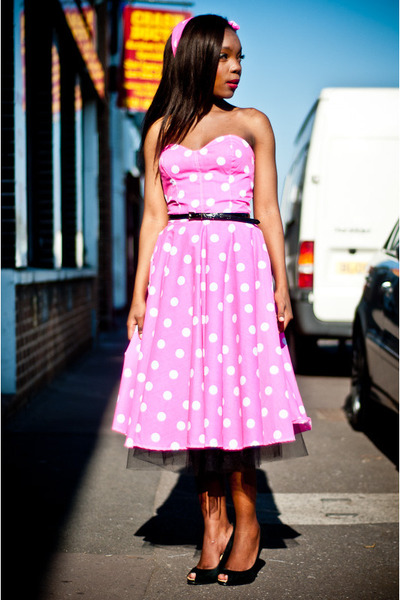 hot pink polka dotpink Style Icons Closet dress