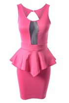 peplumpartypink Styleiconscloset dress