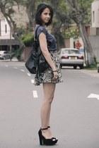 grettta Steve Madden heels - Vintage costume shirt - studded bag asoscom bag