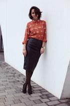 swan pepa loves blouse - pencil asos skirt