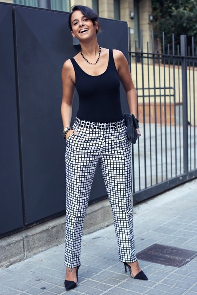 monochromatic asos pants